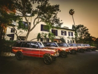 Copper Range Rovers at the Elyx House LA