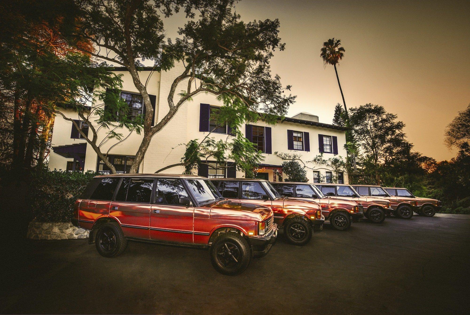 Copper Range Rovers at the Elyx House LA