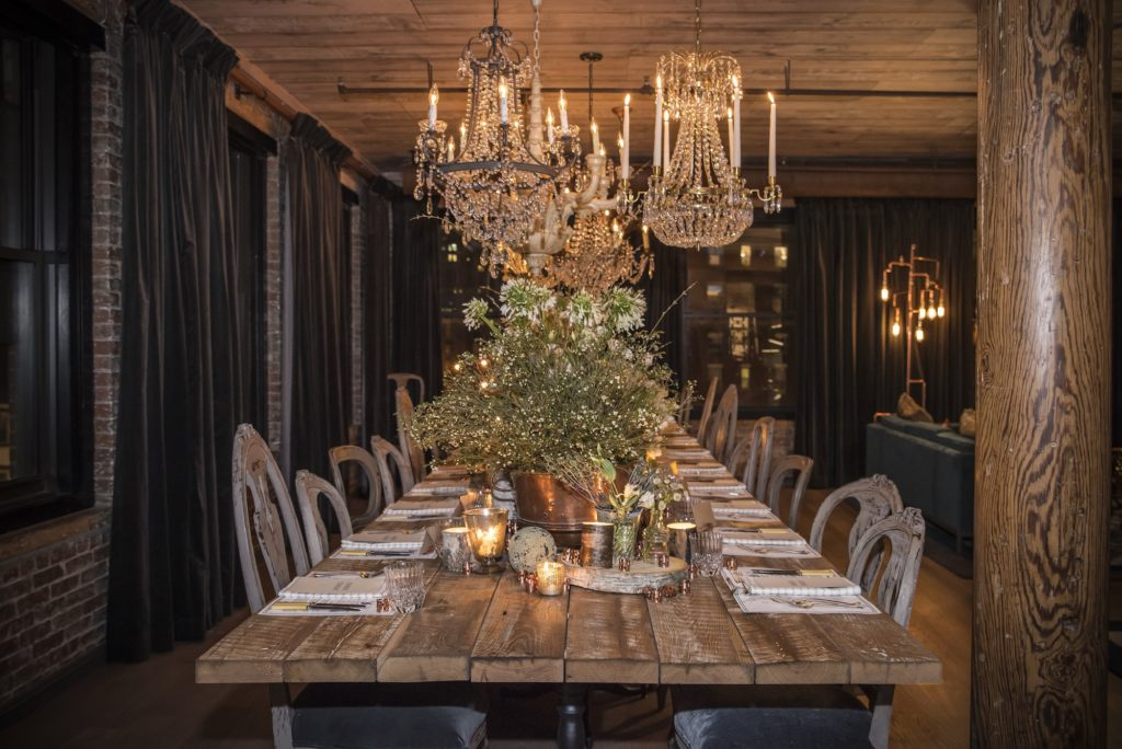 Dinner Table at the Elyx House NYC