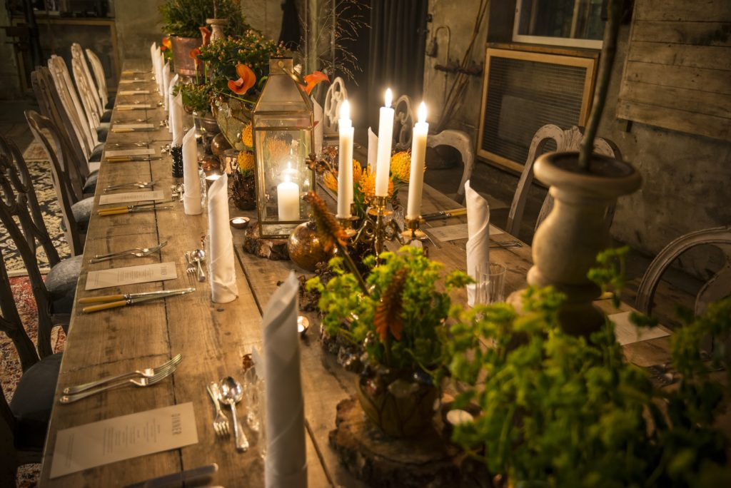 Blacksmith Dinner table at the Elyx Experience