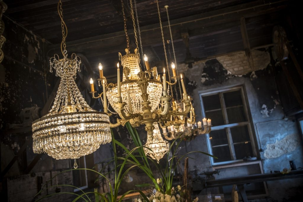 Vintage Chandeliers at the Blacksmith