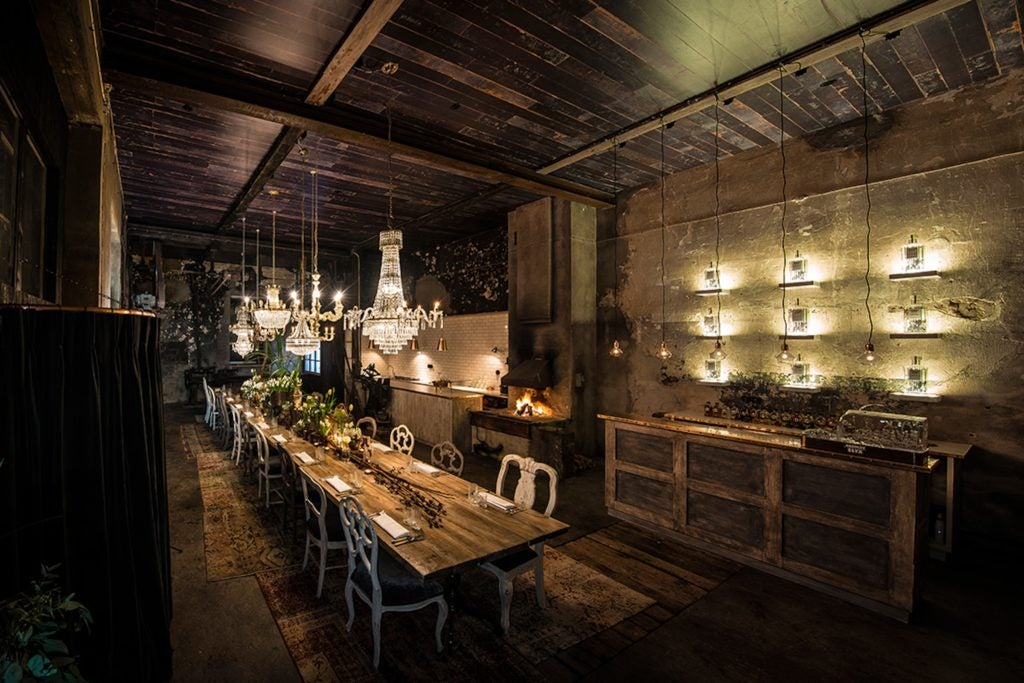 Blacksmith set for dinner at the Elyx Experience