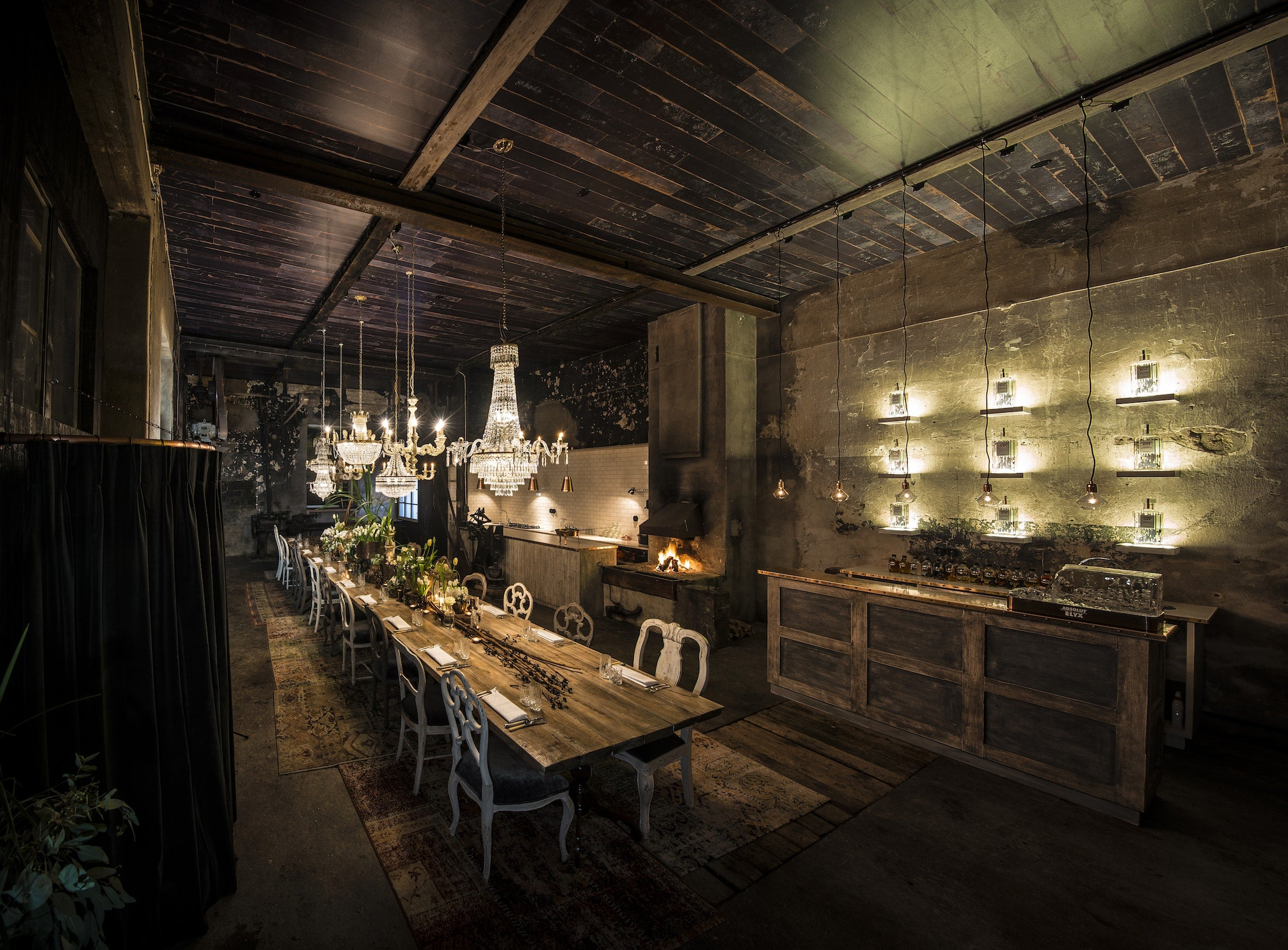 Full view of the Blacksmith dinner at the Elyx Experience