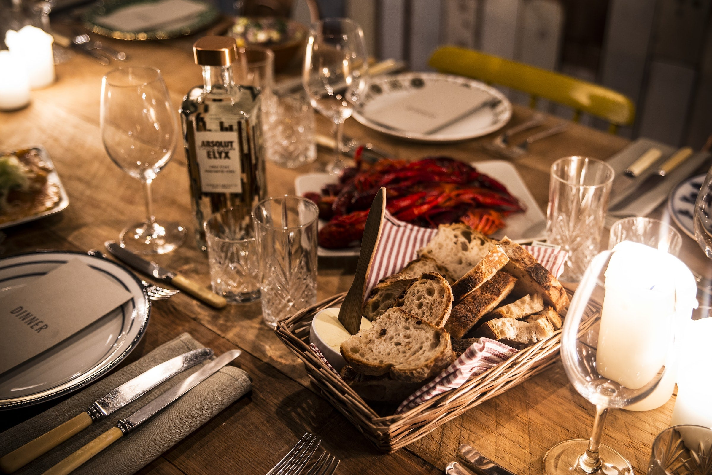 Seafood and Elyx at the Hunting Lodge dinner