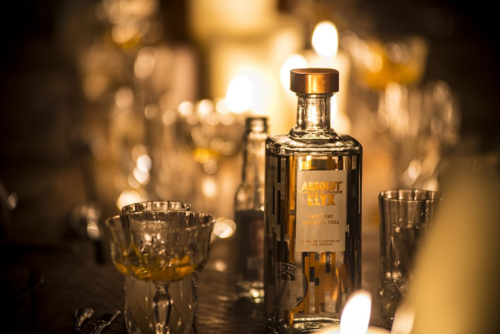 Elyx Bottle and Martini and the Hunting Lodge dinner