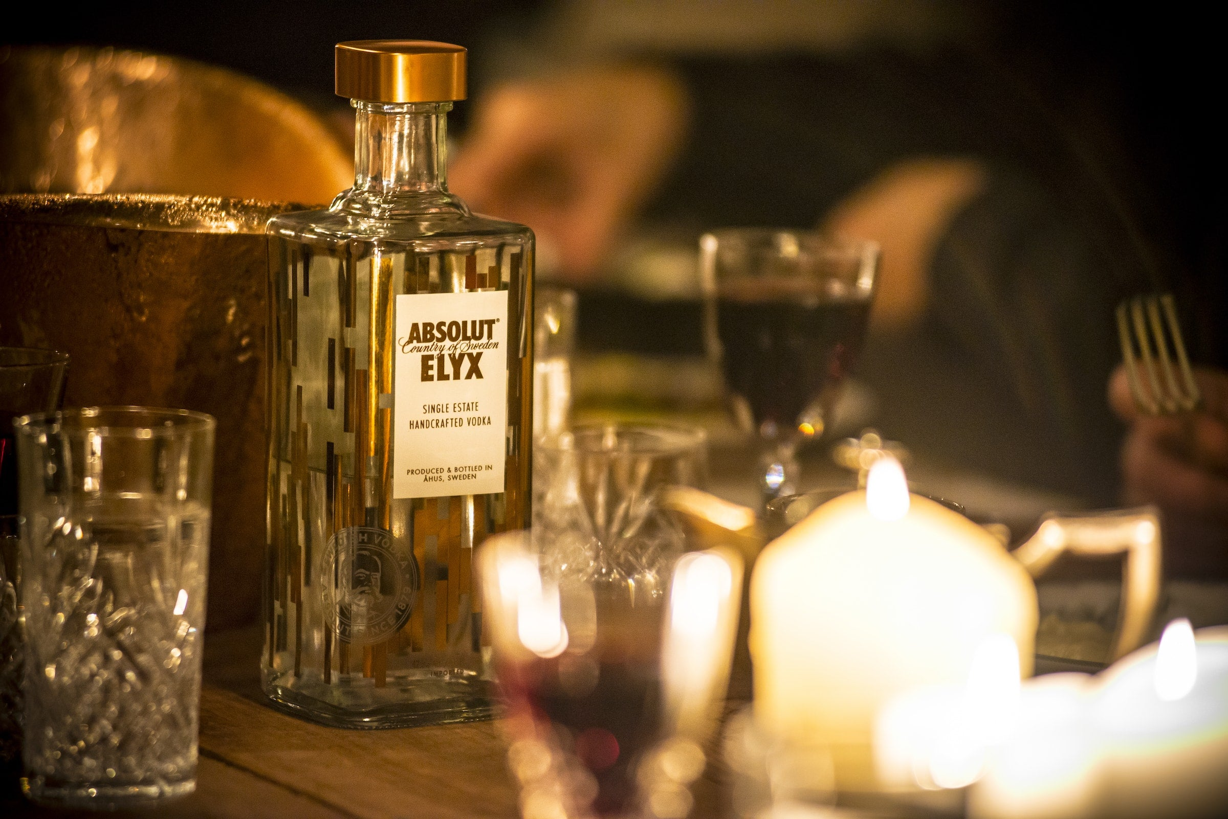 Elyx Bottle at the Hunting Lodge dinner