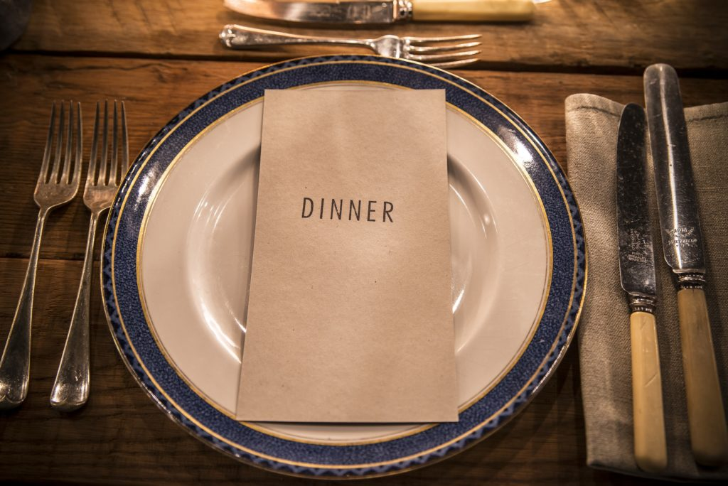 Dinner menu at the Elyx Hunting Lodge