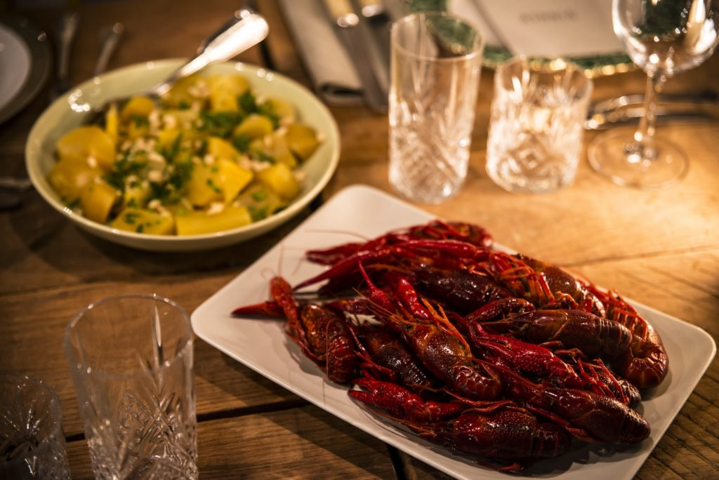Swedish Crayfishes at the Hunting Lodge dinner