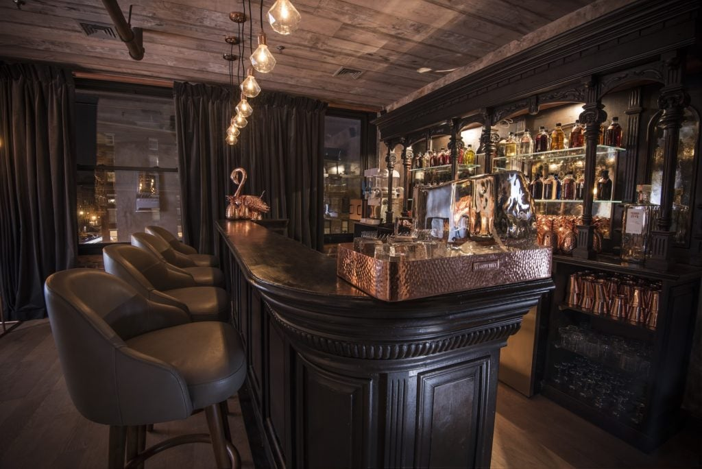 Flamingo on the Bar at the Elyx House NYC