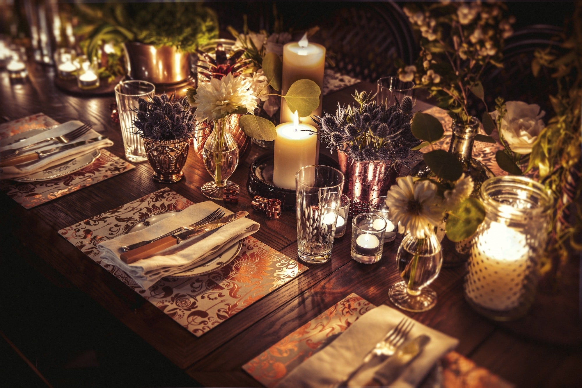 Table set at the Elyx House LA