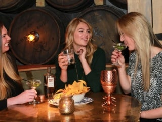 Kate Upton enjoys Elyx Cocktails with Friends in New York City