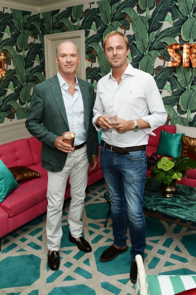 The Weinstein Company's Celebratory Lunch For Michael Keaton Hosted At The Private Residence Of Jonas Tahlin, CEO Absolut Elyx