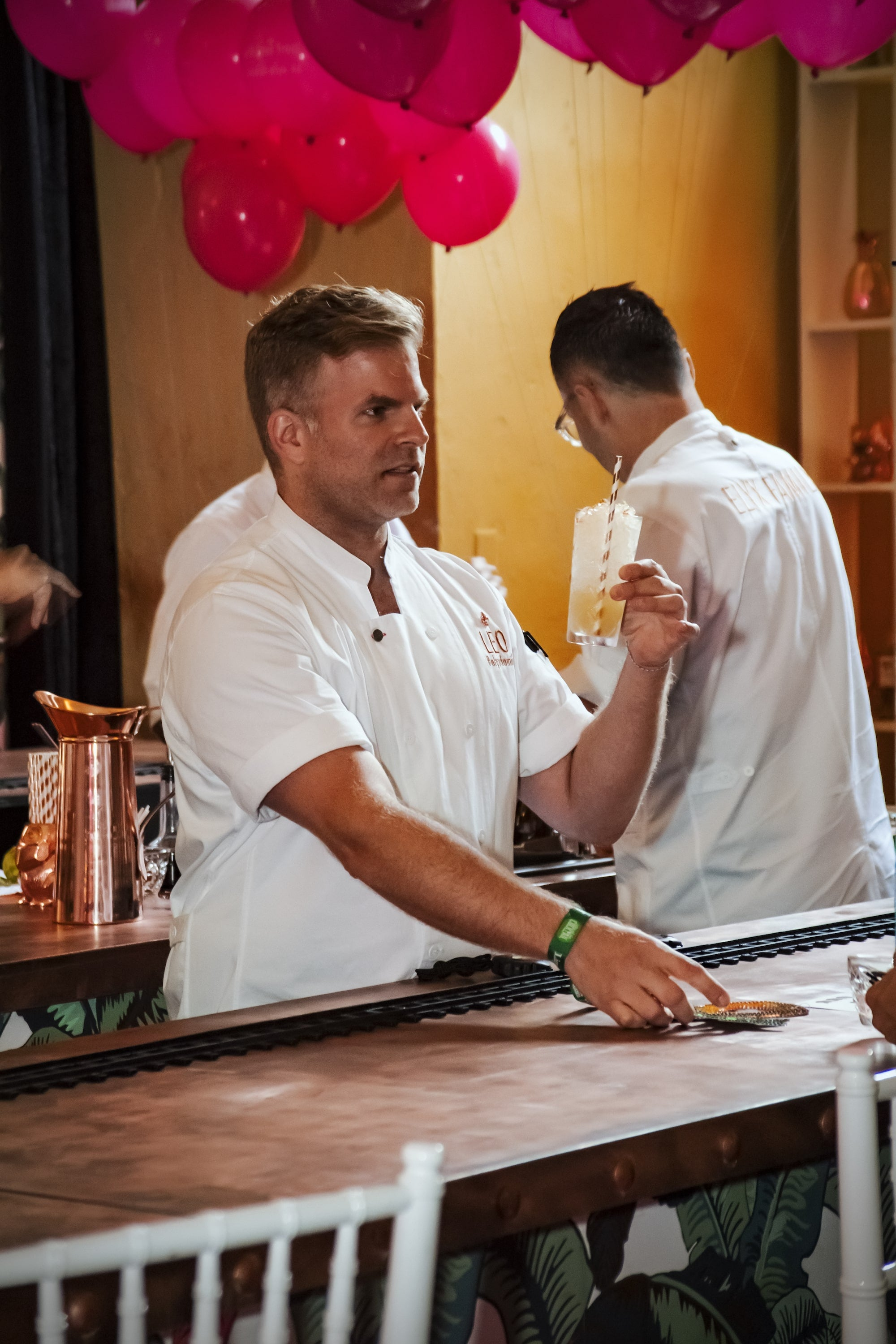 Leo Robitschek behind the bar at Tales of the Cocktail 2017