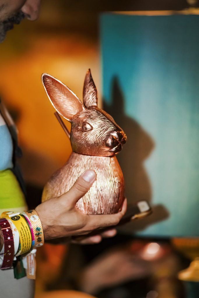 Absolut Elyx Copper Bunny Drinking Vessel